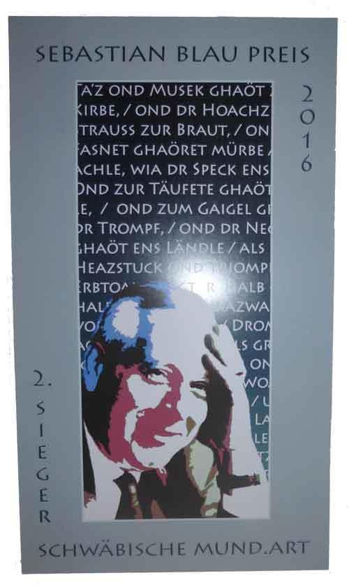 Urkunde Sebastian Blau Preis