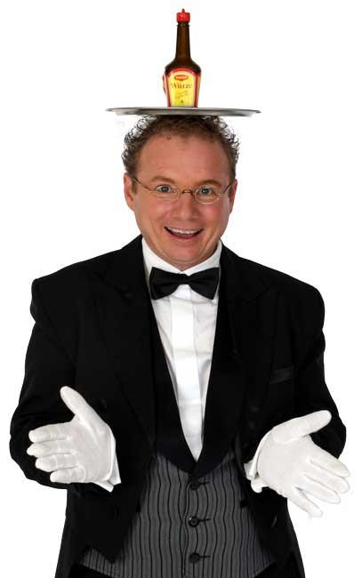 Schwäbischer Kabarettist Bauchredner, Zauberer in Balingen